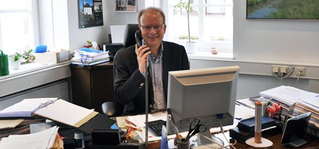 André Kuper in seinem Landtagsbüro